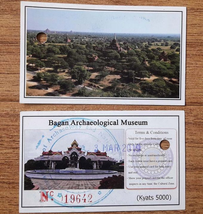 ticket entrada museo bagan