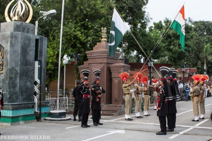 Ceremonia de cierre de frontera entre Pakistan e India (Wagah Border)